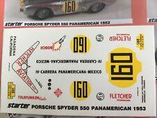 1/43 Decal, Porsche 550 spyder, #160 Fletcher Aviation, Panamericana 1953