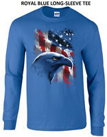 American Bald Eagle United States USA Icon Patriotic Flag Long Sleeve T Gift New