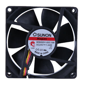 SUNON ME80202V1-000C-G99 24V 1.54W 8cm Ultra Quiet Inverter Cooling Fan