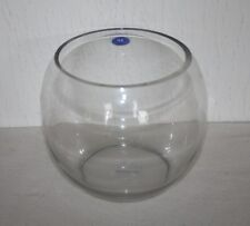 "Wedding Table Centerpiece Glass Fish Bubble Bowl - 7"""