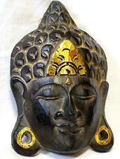 Bouddha en Bois Masque Statue 19 cm boudha Buddha bouda wooden budda doré