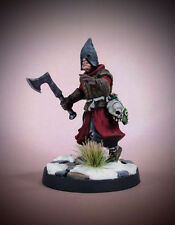 Painted FROSTGRAVE CULTIST with Ax and Hood 28mm miniature AD&D Mordheim