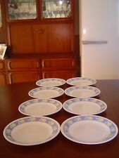 8 PRIMAEVERA BREAD and BUTTER PLATES CORELLE BY CORNING WARE.