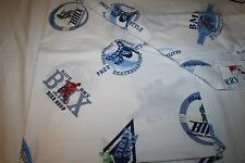 "2 ""BMX Bike Shop""  Pottery Barn Kids Boy  Twin Flat Sheets Crisp Cotton EUC"