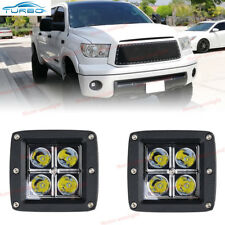 2x 16W 3inch Cube LED Spot Fog Lights For Toyota Tundra Tacoma Pickup Offroad