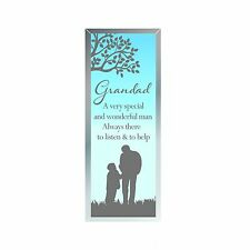 Grandad Sentiment - Mirrored Standing Plaque Gift 61849