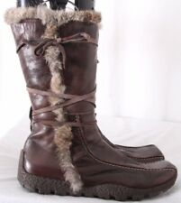 Nine West Studio Rabbit Fur Square Toe Italy Boots Women's EURO 41 (US 10.5)