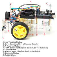 Avoidance Tracking Motor Smart Robot Car Chassis Kit 2WD Ultrasonic Arduino q ni