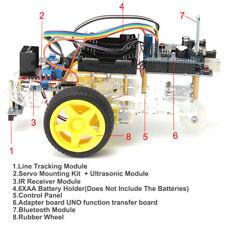 Avoidance Tracking Motor Smart Robot Car Chassis Kit 2WD Ultrasonic Ardu FsCYN