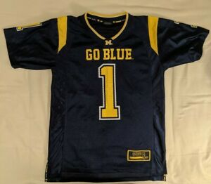 Michigan Wolverines Football Jersey #1 Colosseum Youth L Large