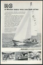 1967 Jensen Marine Cal 25 racing yacht sailing photo vintage print ad