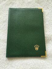 Wallet Holder 68.08.55 Excellent Cond 100% Original Rolex Green Leather Passport
