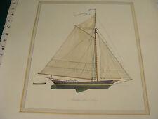 Vintage Original Poster: 1968 poster of mid-19th century Cargo Sloop