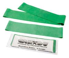 "CanDo exercise band loop exerciser, full body set (1 ea: 10"",15"",30""), green NEW"