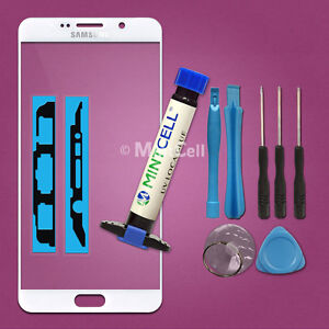 White Front Screen Glass Replacement for Galaxy Note 5 Repair w/ LOCA UV Glue
