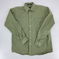 Eddie Bauer Mens Legend Wash Long Sleeve Button Down Shirt Size M Green Stripe