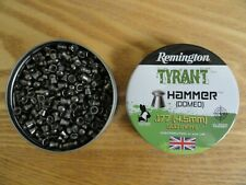 500 X Remington .177 / 4.5mm Hammer Domed Domes Lead Airgun Pellets - Full Tin