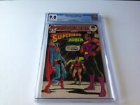 WORLDS FINEST COMICS 200 CGC 9.0 1971 SUPERMAN CALENDAR NEAL ADAMS DC COMICS