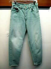EUC Vtg 1980's Levi 550 Relaxed Fit Tapered aqua blue Colored Jeans Sz 31x32 USA