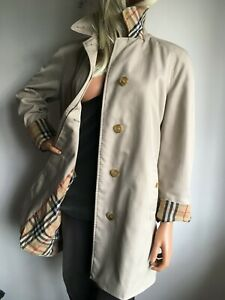 BURBERRYS WOMENS M MEDIUM UK 12-14 (US 10) CLASSIC TRENCH COAT JACKET RAINCOAT