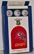 Nfl Kansas City Chiefs - 3 Ball Towel Set! – New in Package - Gridiron Golf