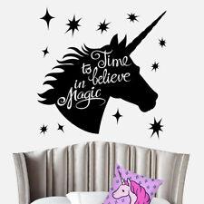 Wall Art Sticker Unicorn Horse Stars Bedroom Magic Girls Bedroom Childrens Vinyl