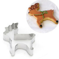 Christmas Deer Mold Metal Cookie Cutter Fondant Cake Decor Biscuit Pastry Mou JN