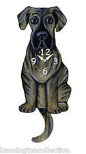 WALL CLOCKS - GREAT DANE WAGGING TAIL WALL CLOCK - DOG CLOCK - BRINDLE