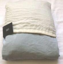 Restoration Hardware Garment-Dyed Sateen Full Bed Skirt Cotton Sky, RETAIL $145