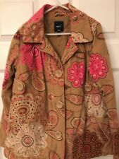 Gap Kids Corduroy Coat Girls Medium Size 8 Pink & Brown