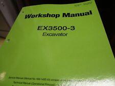 Hitachi EX3500-3 Excavator Workshop Technical manual