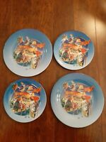 Its 4 O'Clock Somewhere, Why Wait Til 5? Collectible display Plates, Lot of 4.