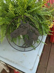 Metal Horse Wall Decor Round