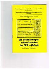 Bezirksstempel-Aufdruckmarken der OPD Erfurt (SBZ - Alliierte Besatzung)
