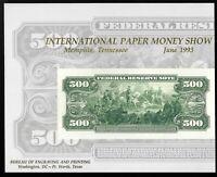 1988 BEP Souvenir Card B116 ANA Cincinnati Show 1918 $2.00 F.R.N BATTLESHIP UNC