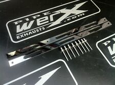 Pair of  Rivet Bands / Straps & Rivets for 98 mm Diameter GP Style Exhaust Can