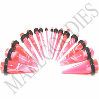 V055 Pink Marble Stretchers Tapers Expanders 14 12 10 8 6 4 2 0 00G Gauge n Kit
