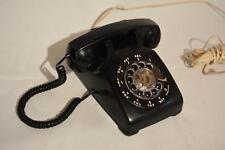 Vintage Classic Black Itt 500 Rotary Dial Telephone Mid-Century Canada Theatre