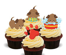 Cute Puppies, Edible Cup Cake Toppers, Standup Fairy Decorations, Puppy Dog Girl