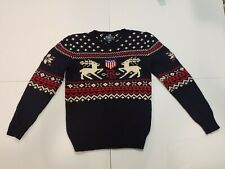 Polo Ralph Lauren Deer Snowflake Shield Women's Small Boys Large Sweater
