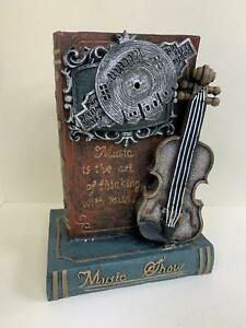 Pair Vintage Antique Bookend Masterpiece Graduated Music With a Money-saving Box