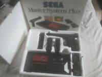 Boxed Sega Master System Plus Console Bundle Box Set Scart Full Set Up Phaser #1