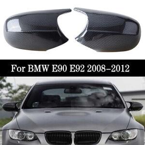 For BMW E90 E92 LCI 328i 335i 2009 2010 2011 Carbon Fiber Textured Mirror Cover