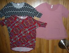 Lot of 3 LuLaroe Oversized tunics & swing top blouses shirts Size S Womens