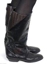 Damenschuhe im Wadenhohe Stiefel-Stil mit Echtleder ohne Verschluss für Kleiner Absatz (Kleiner als 3 cm)