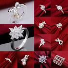 18K White Gold Filled Wedding Jewelry Topaz Gemstone Engagement Ring Size 8