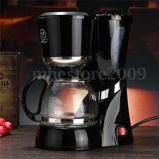 Black Drip Coffee Maker Brewing Machine Homade Coffee Machine 6-CUP 220-240V