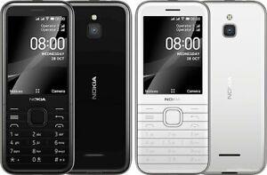 "Nokia 8000 4G Dual SIM 2.8"" Black White Snapdragon 210 FM radio Phone By FedEx"