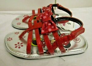 Disney Minnie Mouse Sandals Red Size 9   NWT