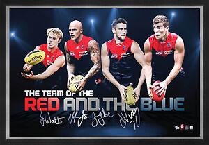 Melbourne Demons Signed AFL Player Print Framed Nathan Jones Jack Viney Watts